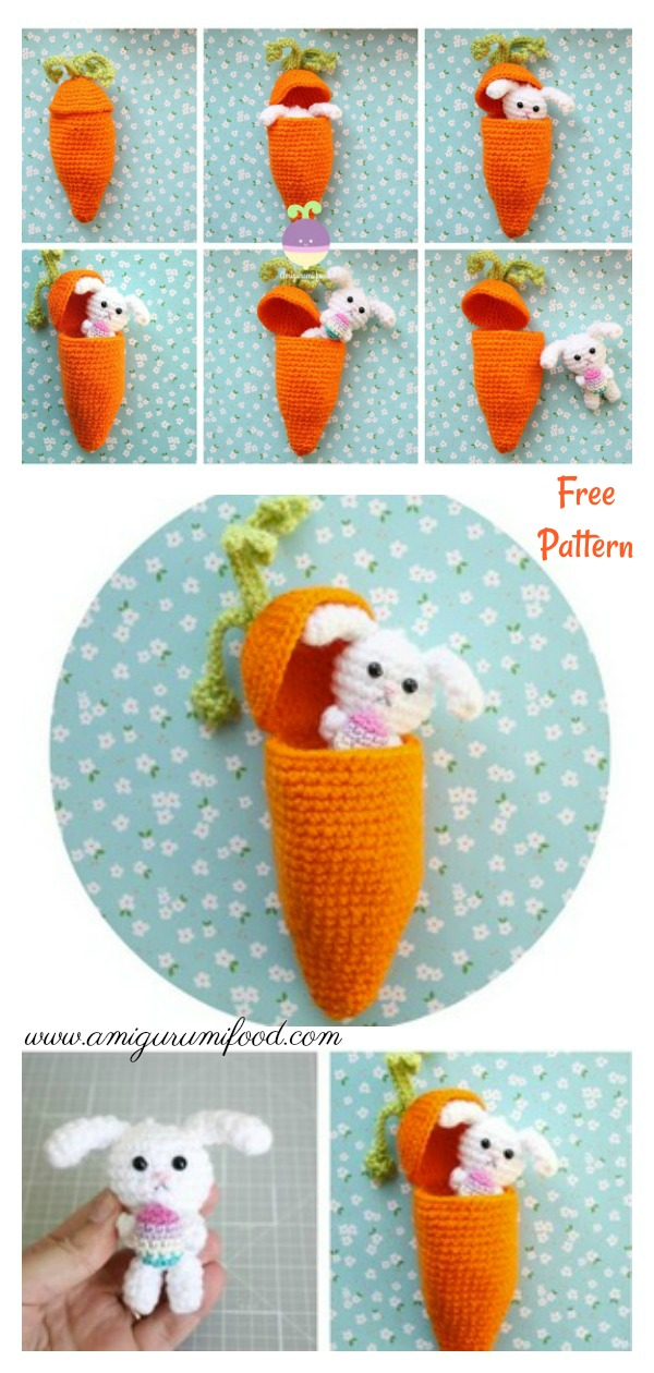 Carrot Surprise Easter Bunny Playset Free Crochet Pattern