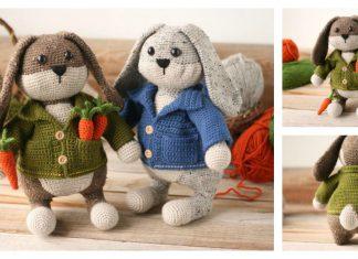 Cottage Garden Bunny Free Crochet Pattern