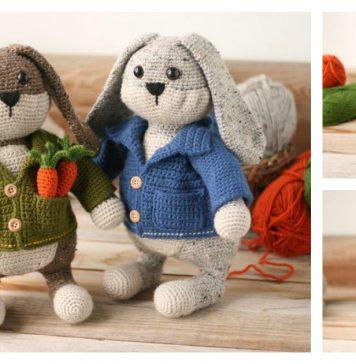 Bunny Backpack crochet pattern | 364x356