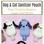 Dog & Cat Sanitizer Pouch Free Crochet Pattern