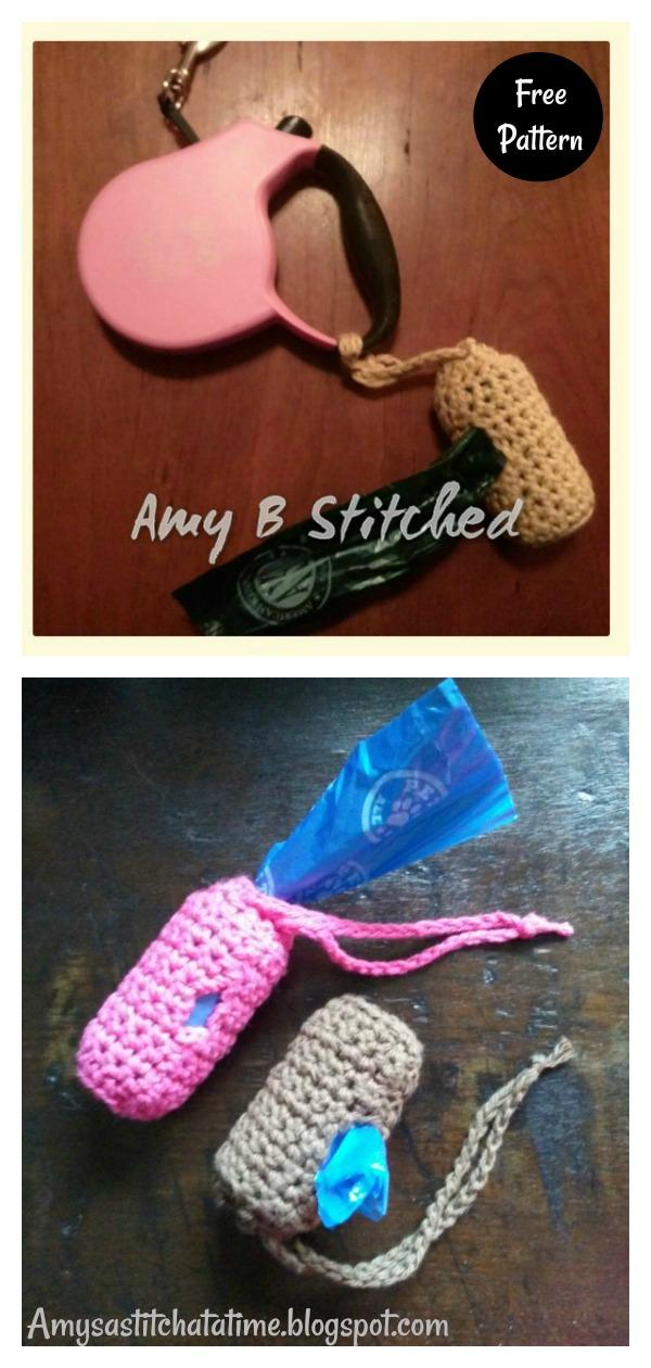 Dog Poop Bag Holder Free Crochet Pattern
