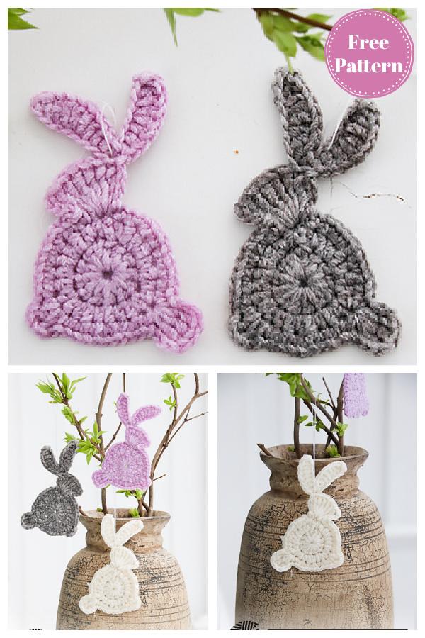 Easter Bunny Applique Free Crochet Pattern