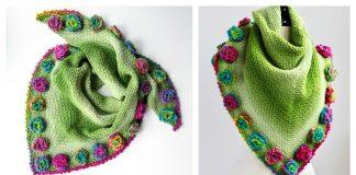 Flower Meadow Shawl Free Crochet Pattern