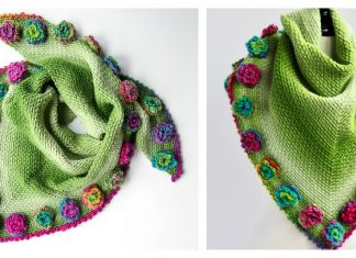 Flower Meadow Shawl Free Crochet Pattern