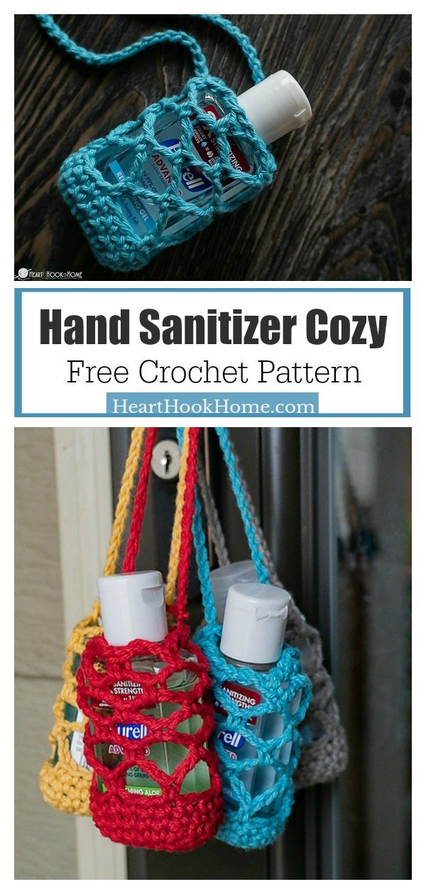 Hand Sanitizer Cozy Free Crochet Pattern