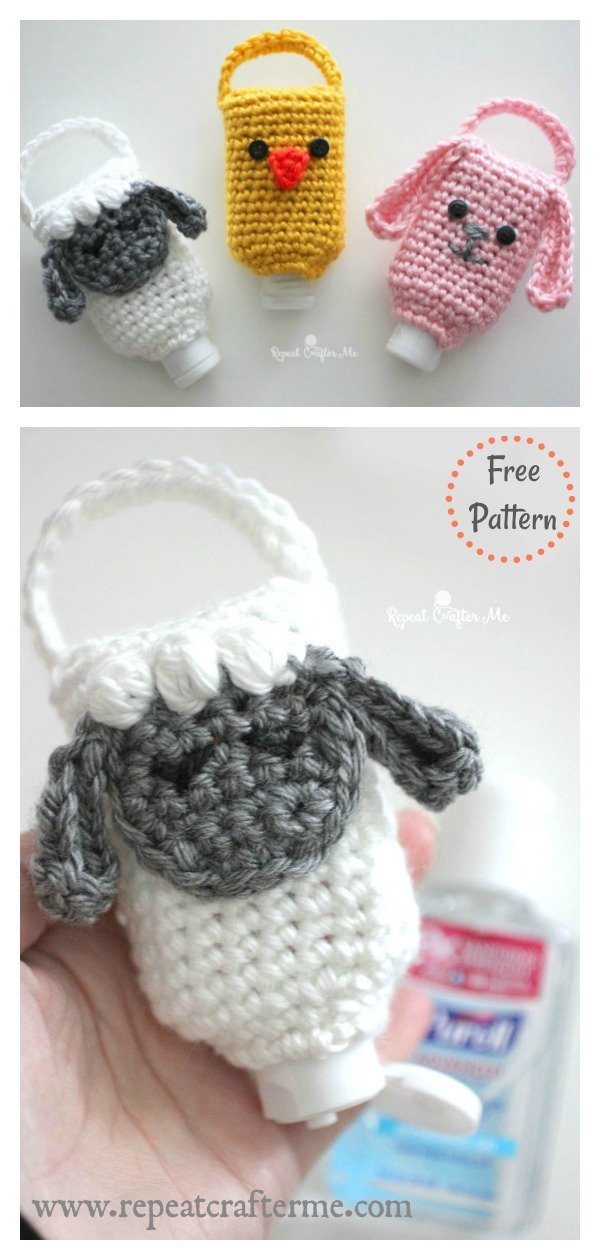 Hand Sanitizer Cozy Free Crochet Pattern