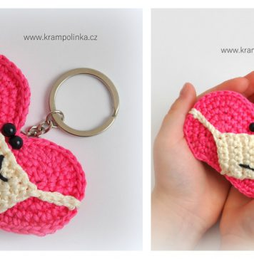 Heart with a Facemask Free Crochet Pattern and Video Tutorial