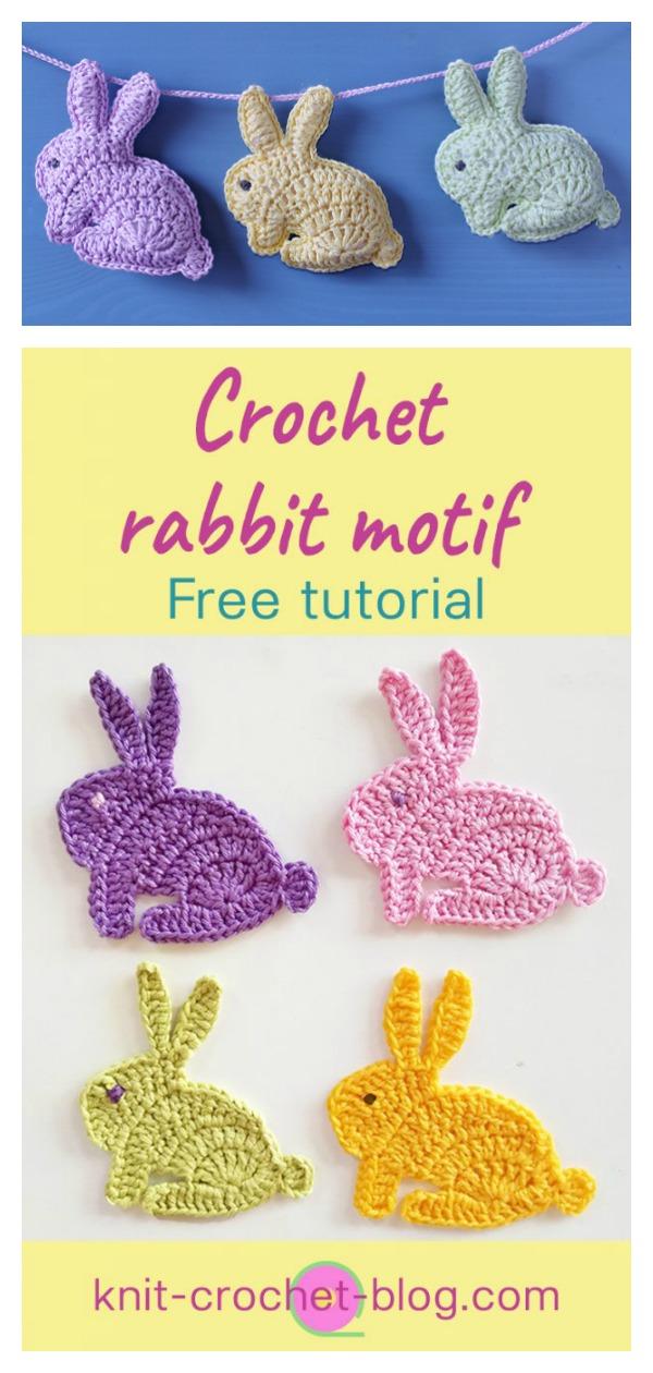 How to Crochet Bunny Rabbit Applique Motif