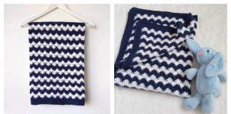Interlocking Shell Stitch Blanket Free Crochet Pattern