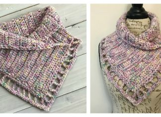 Lace Edging Cowl and Neck Warmer Free Crochet Pattern