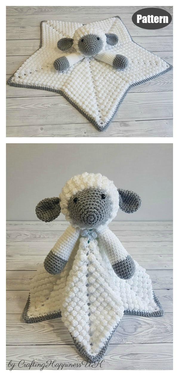 Liam The Lamb Baby Lovey Blanket Comforter Security Blanket Crochet Pattern