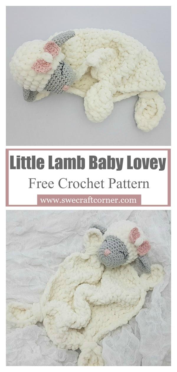 Little Lamb Baby Lovey Free Crochet Pattern