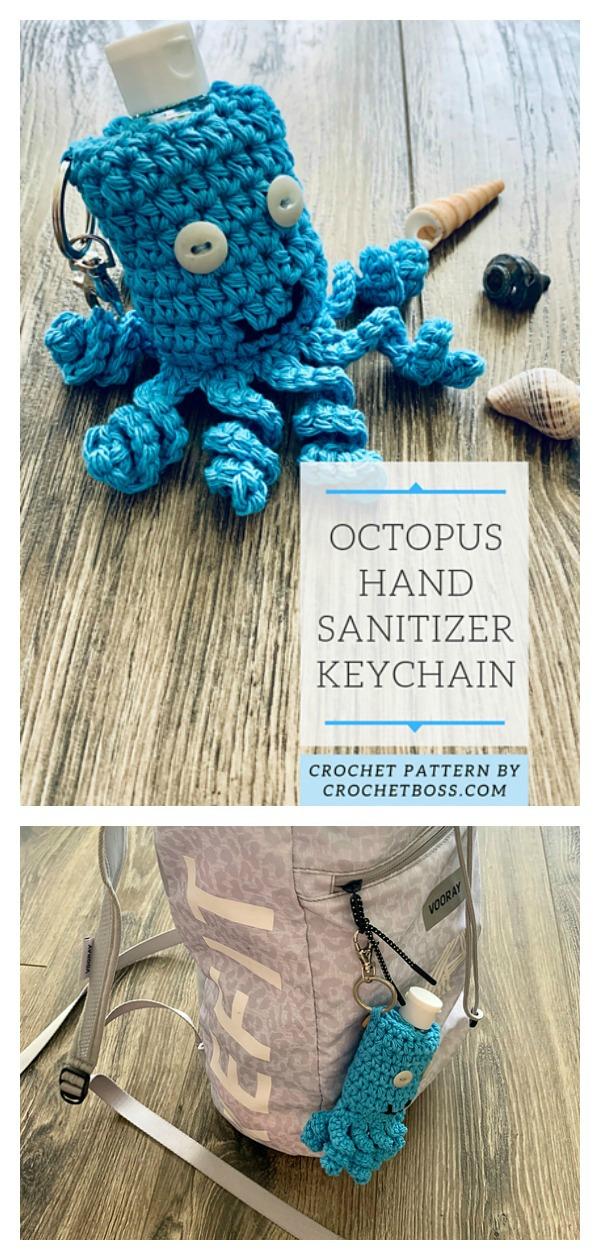 Little Octopus Hand Sanitizer Cozy Free Crochet Pattern