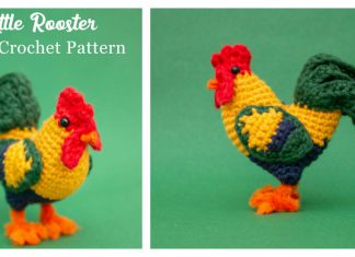 Little Rooster Amigurumi Free Crochet Pattern and Video Tutorial