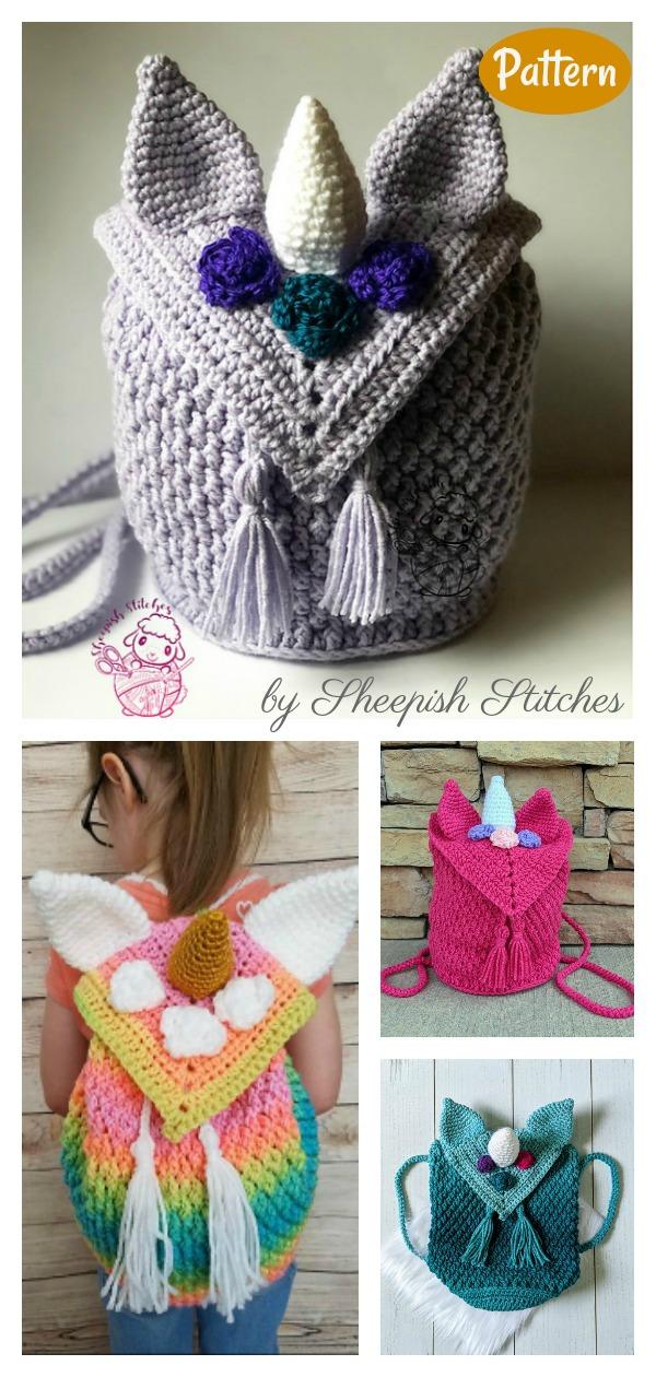 Magical Unicorn Backpack Crochet Pattern