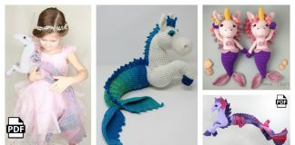 Mermaid Unicorn Amigurumi Crochet Pattern