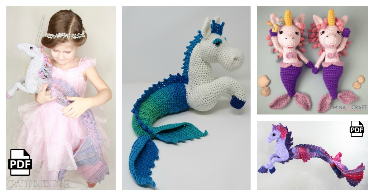Free Crochet Unicorn Pattern - Red Ted Art - Make crafting with ... | 630x1200