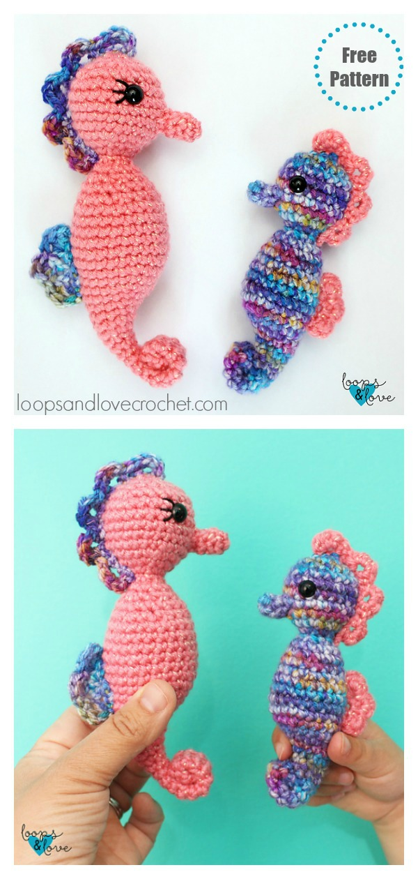 Mommy and Me Seahorse Amigurumi Free Crochet Pattern