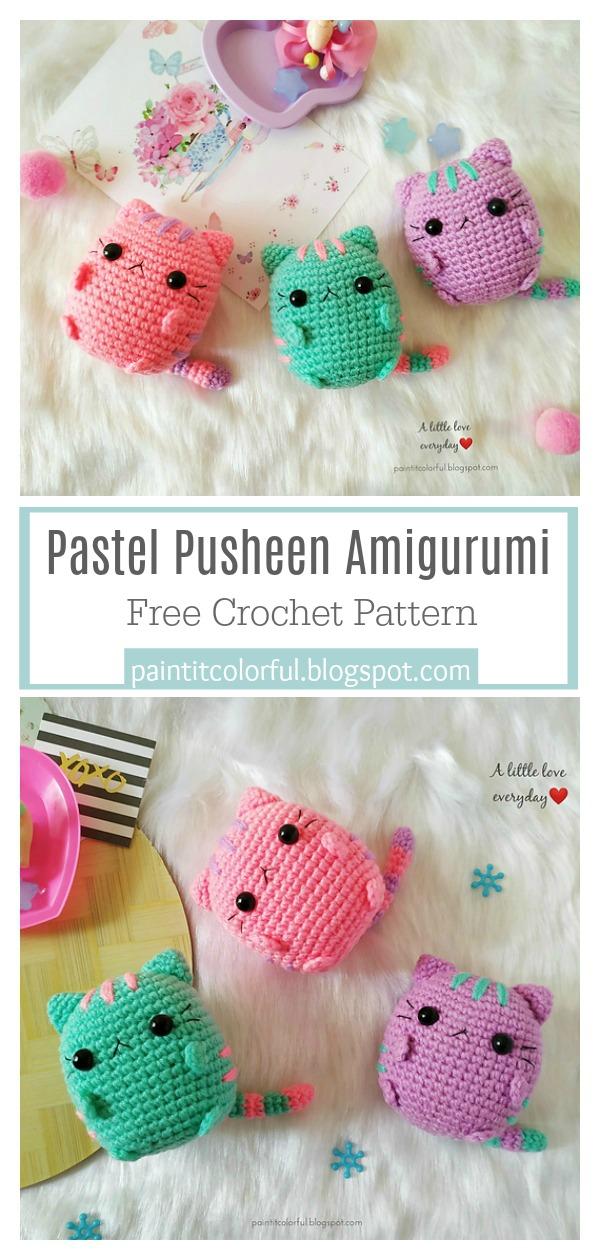 Amigurumi: Pusheen Collection Free Crochet Patterns ... | 1260x600