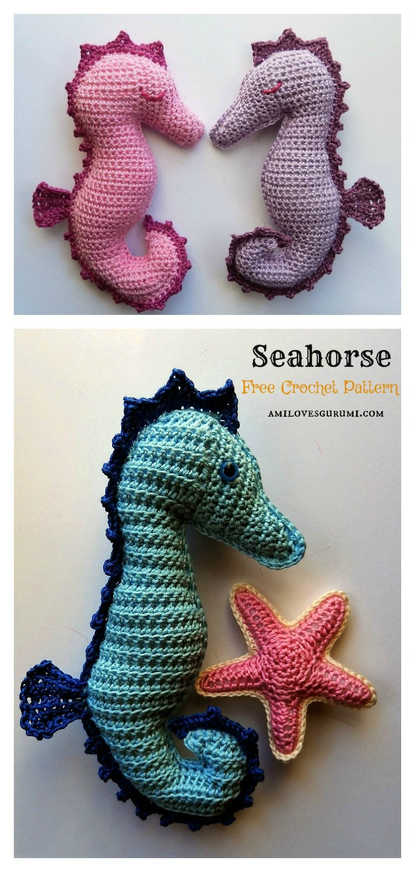 Ragdoll Seahorse Free Crochet Pattern