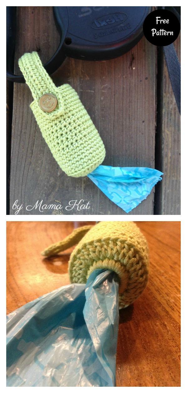 Simple Crocheted Poop Bag Holder Free Crochet Pattern