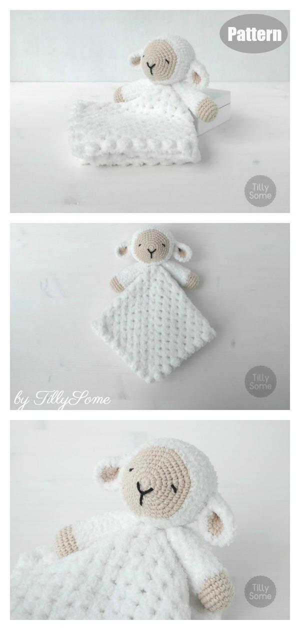 Sleepy Sheep Lovey Crochet Pattern