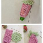 Strawberry Disinfectant Holder Free Crochet Pattern