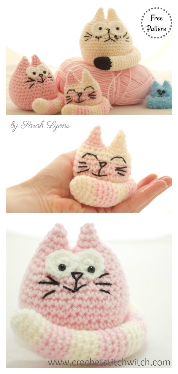 Three Fat Cats Free Crochet Pattern