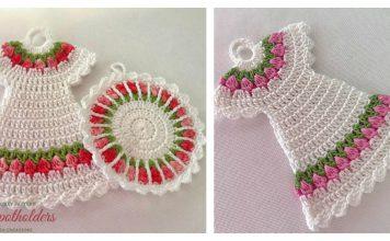 Tulip Stitch Potholder Free Crochet Pattern