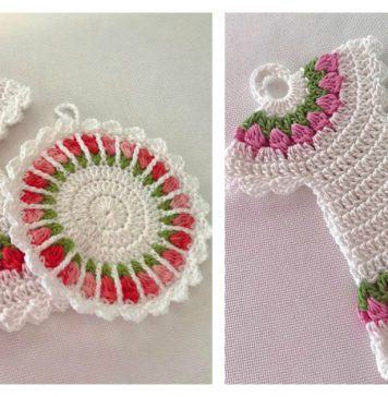 Tulip Stitch Potholder Free Crochet Pattern