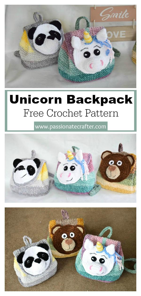 Unicorn Backpack Free Crochet Pattern