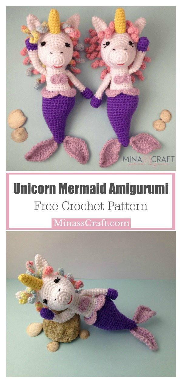 Unicorn Mermaid Amigurumi Free Crochet Pattern