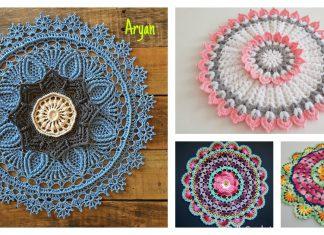 3D Flower Doily Free Crochet Pattern