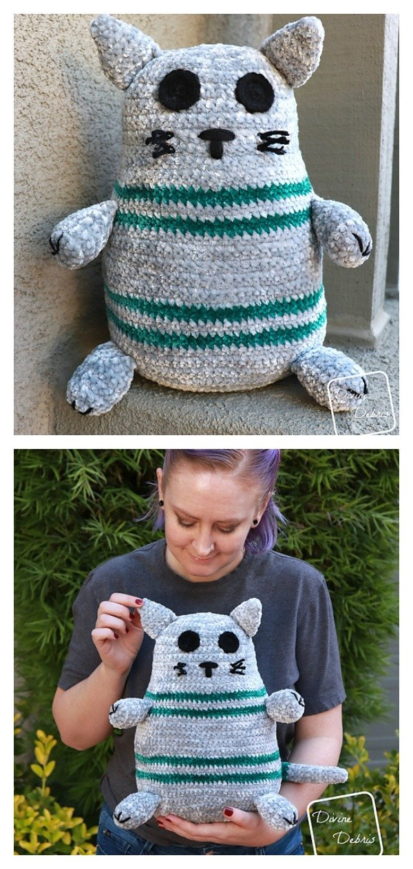 Adorable Rebel Cat Free Crochet Pattern