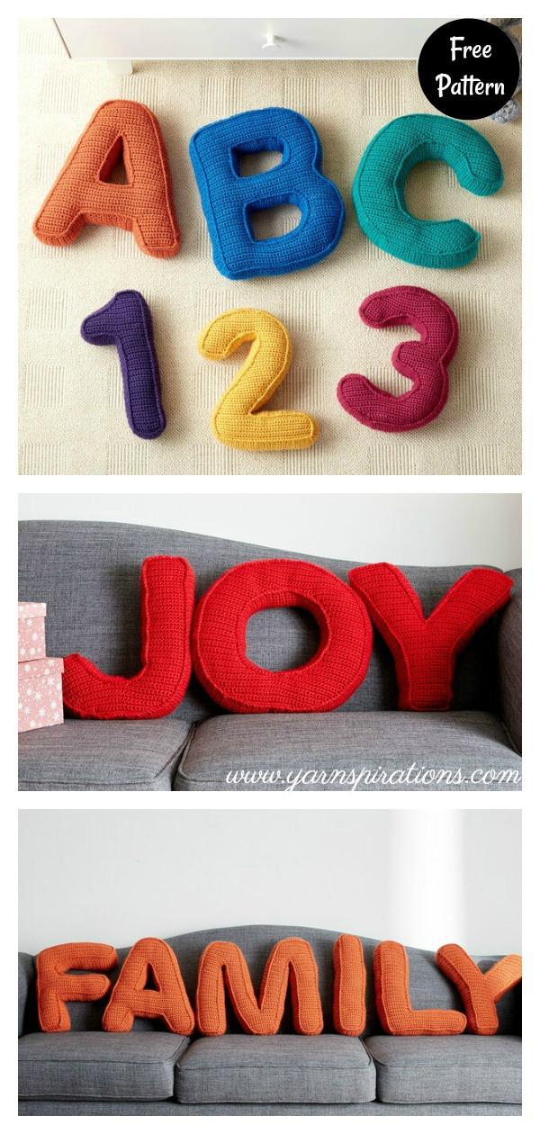Alphabet Pillow Free Crochet Pattern