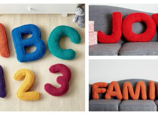 Alphabet Pillow Free Crochet Pattern