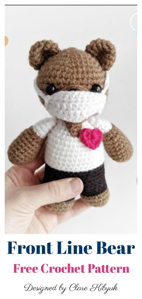 Amigurumi Front Line Bear Free Crochet Pattern