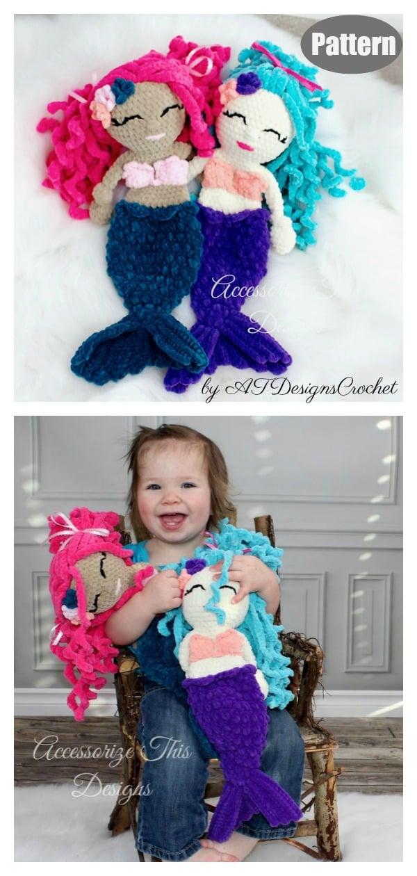 Amigurumi Mermaid Ragdoll Lovey Crochet Pattern