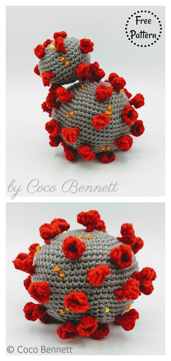 Coronavirus Amigurumi Free Crochet Pattern