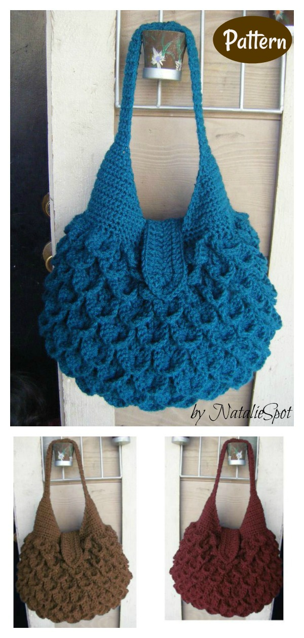 Crocodile Stitch Bag Crochet Pattern