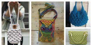 Crocodile Stitch Bag Free Crochet Pattern and Paid