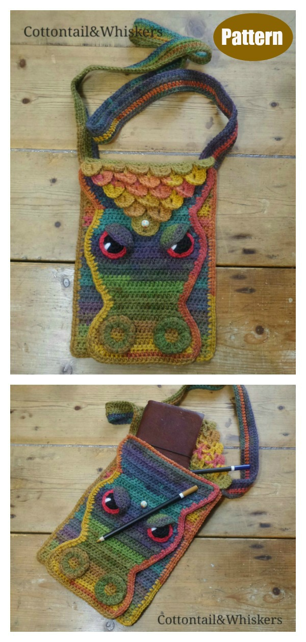 Crocodile Stitch Dragon Scale Bag Crochet Pattern