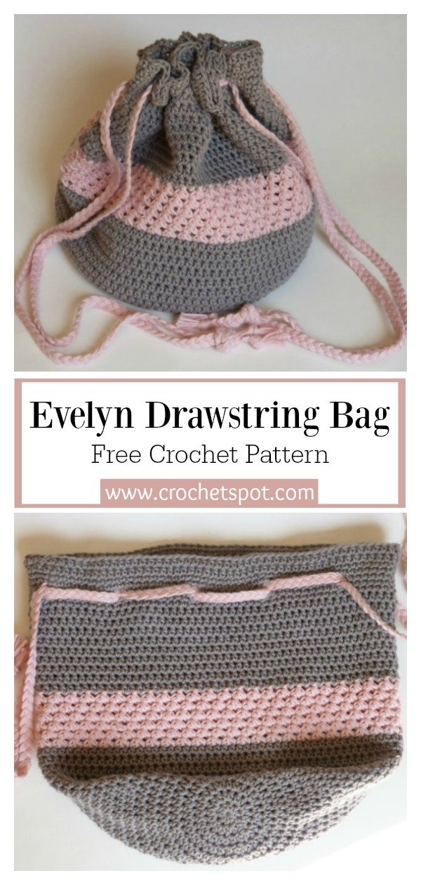 7 Drawstring Bucket Bag Free Crochet Pattern Page 2 Of 2