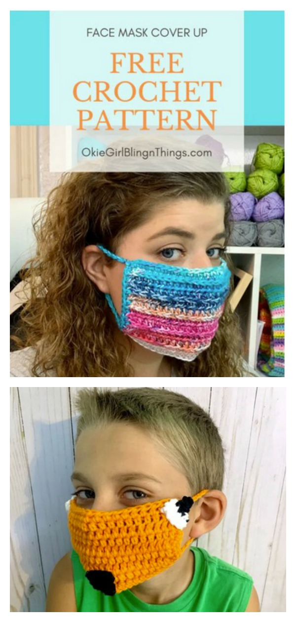 Face Mask Cover Up Free Crochet Pattern