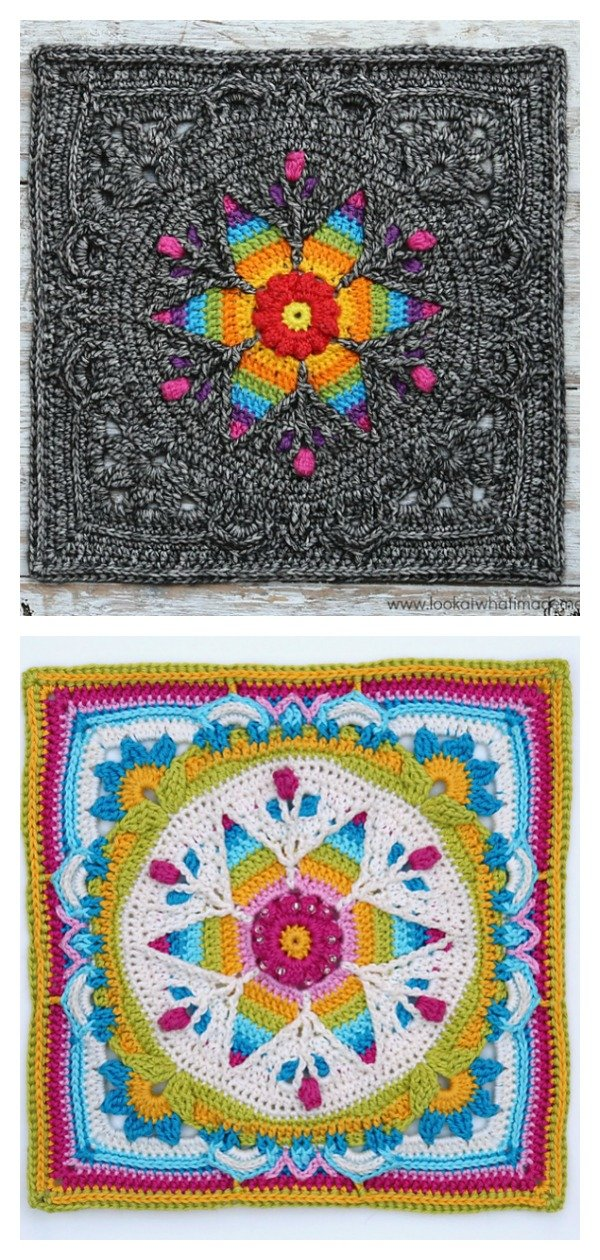 Fancy Nancy Square Free Crochet Pattern
