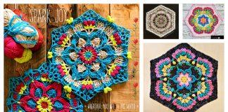 Flower Mandala Hexagon Free Crochet Pattern