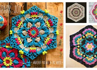 Flower Mandala Hexagon Free Crochet Pattern