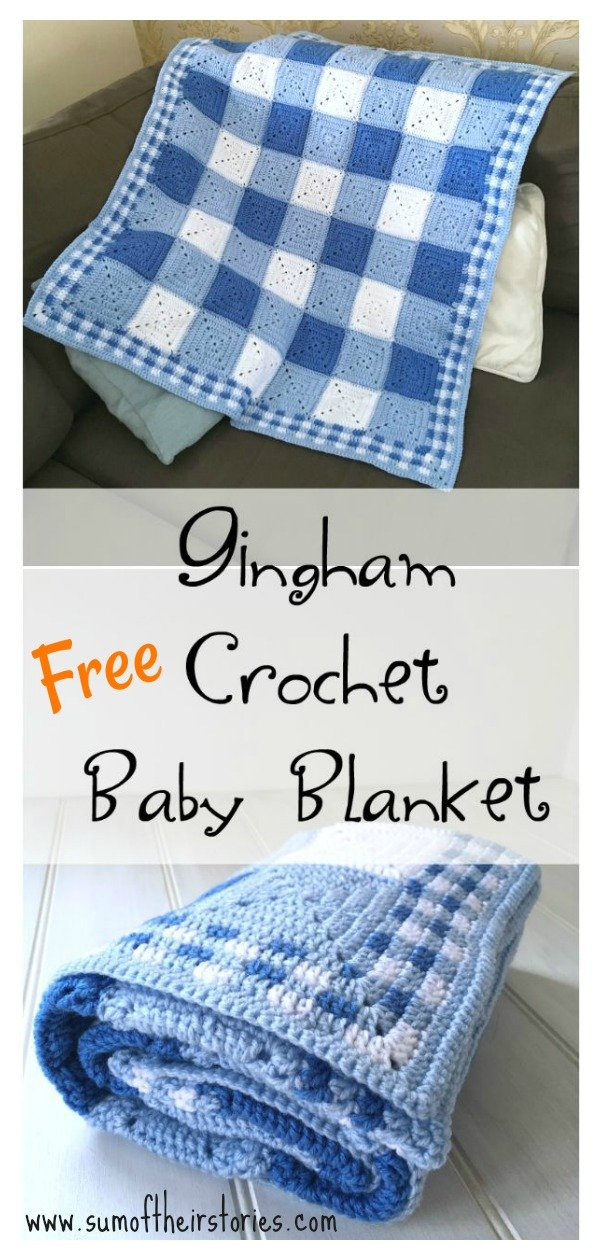 Gingham Blanket Free Crochet Pattern