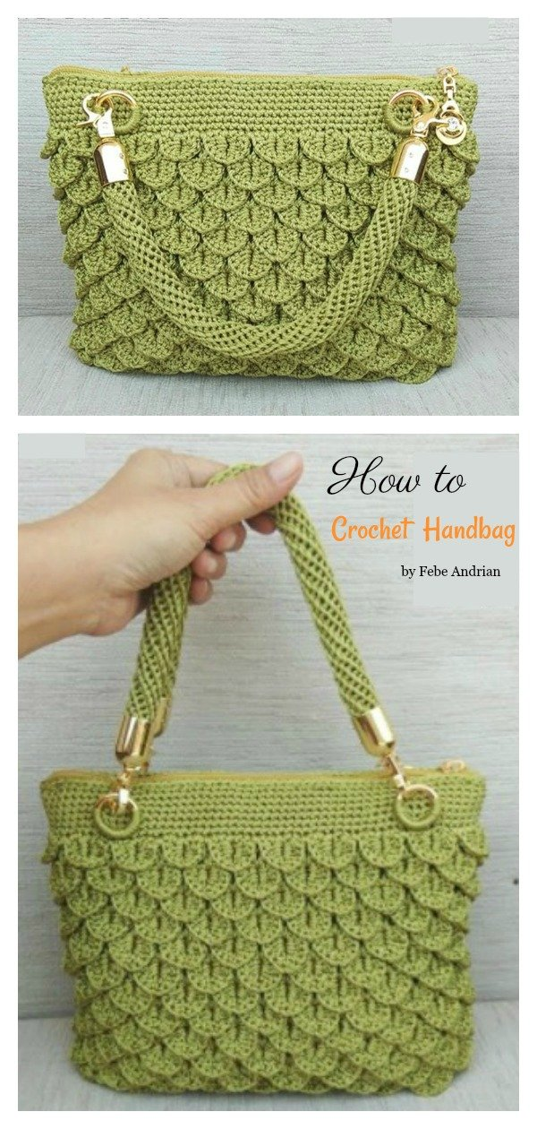 How to Crochet Crocodile Stitch Handbag Video Tutorial
