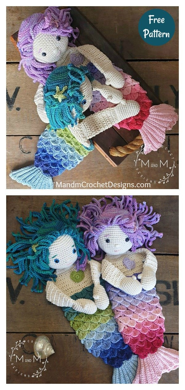 Mermaid Ragdoll Free Crochet Pattern CAL
